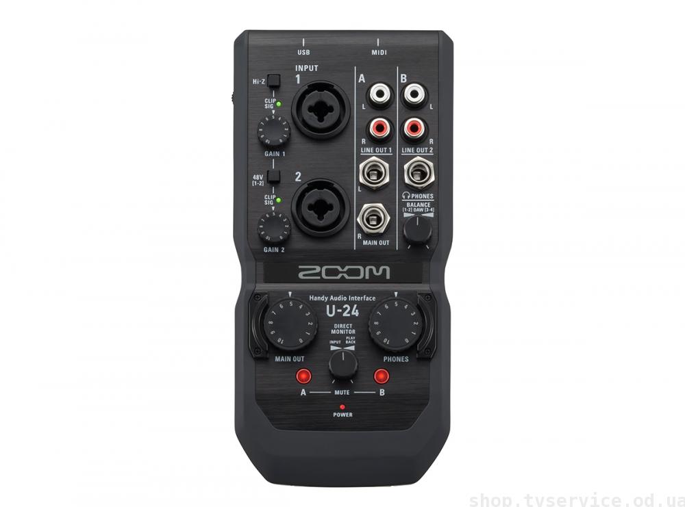 USB-аудиоинтерфейсы Zoom U-24 и U-44